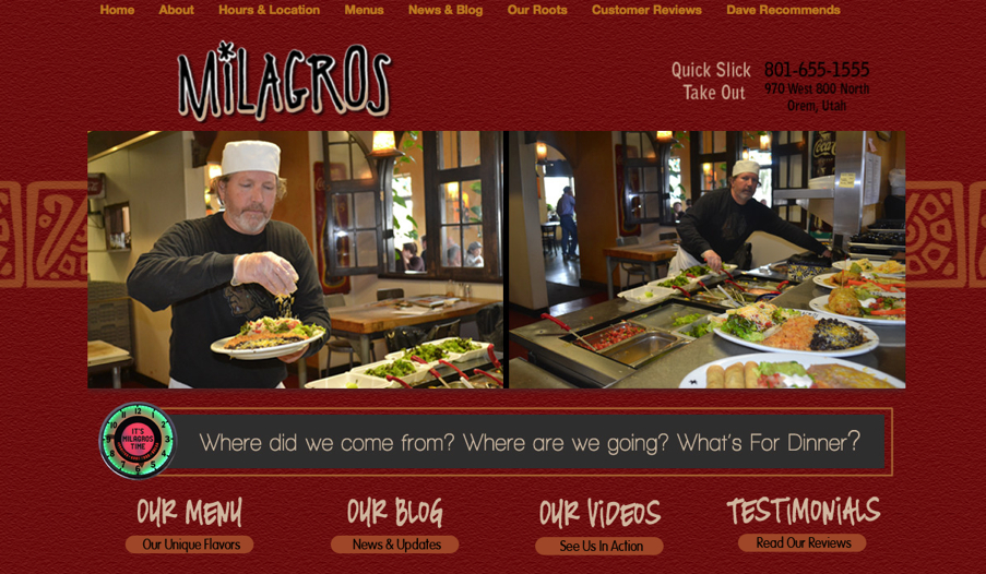 Utah Restaurant WordPress Design