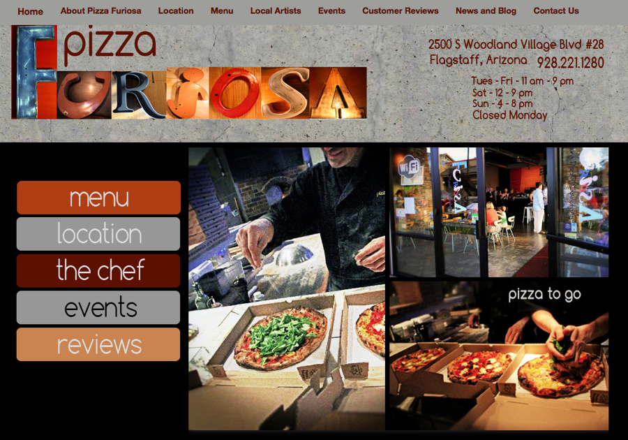 Arizona Restaurant WordPress Design