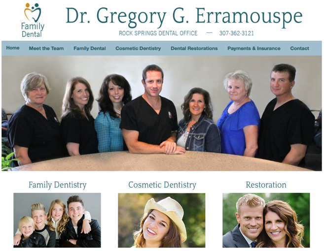 Wyoming Dentist WordPress Design